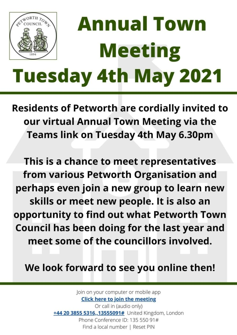 Town Meeting Poster 2021